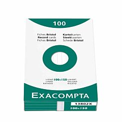 Exacompta Record Cards 10x15cm Lined Pack of 100