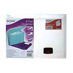 Snopake 6 Part Organiser A4 Clear