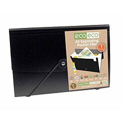 eco eco Expanding File 7 Pockets A5 Black