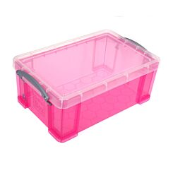 Really Useful Storage Box 9 Litre Light Pink