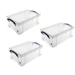 Really Useful Box 9 Litre Plus 2 Trays Pack of 3