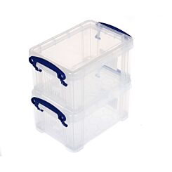 Really Useful Box 0.7 Litres Twin Pack Clear