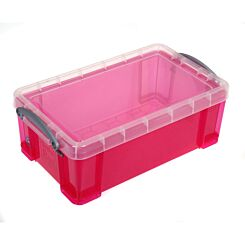 Really Useful Storage Box 5 Litre Bright Pink