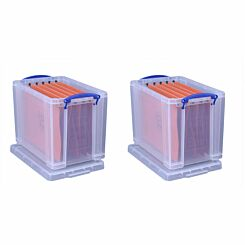 Really Useful Box 19 Litre Plus 10 Files Pack of 2