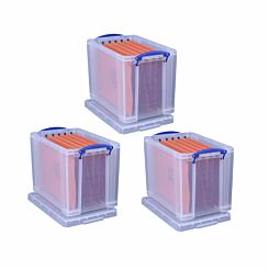 Really Useful Box 19 Litre Plus 10 Files Pack of 3