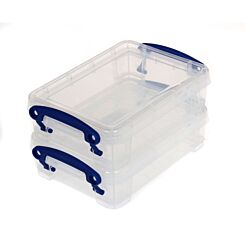 Really Useful Box 0.35 Litres Pack of 2 Clear