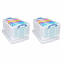 Really Useful 64 Litre Pack 2 Clear