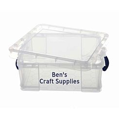 Personalised Really Useful Box 18 Litre Clear with Blue Text