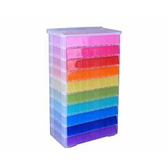 Really Useful Storage Drawer Unit 10 x 4.5 Litre Rainbow
