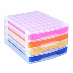 Really Useful Storage Drawer Unit Clear/Rainbow 4x3 Litre