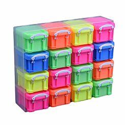 Really Useful Box Organiser 0.14L Neon