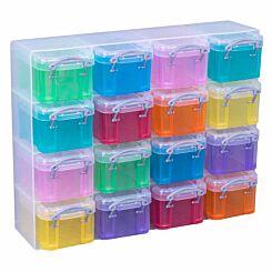 Really Useful Box Organiser 0.14L Rainbow