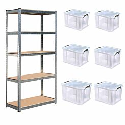 Hika Boltless Shelving with 6x36L Allstore Boxes