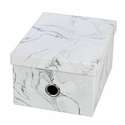 Ryman Storage Box Medium Marble Grey