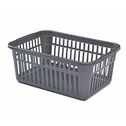 Whitefurze Handy Basket 45cm Grey Pack of 2