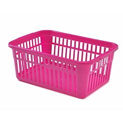 Whitefurze Handy Basket 45cm Grey Pack of 2 Pink