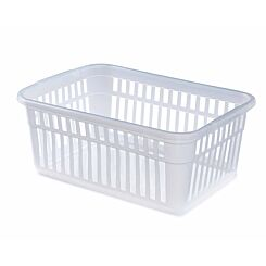 Whitefurze Handy Basket 45cm Grey Pack of 2 Clear