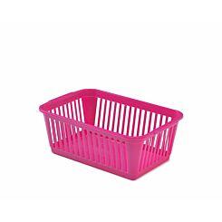 Whitefurze Handy Basket 30cm Pack of 4 Pink