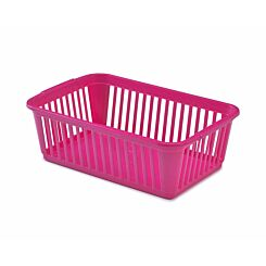 Whitefurze Handy Basket 25cm Pack of 5 Pink