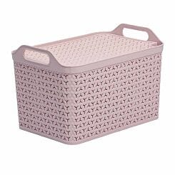 Strata Urban Store Basket with Lid 21 Litre Blush