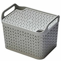 Strata Urban Store Basket with Lid 14 Litre Grey
