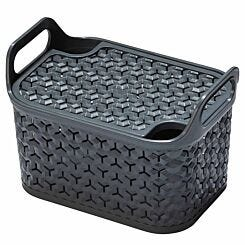 Strata Urban Store Basket with Lid 8 Litre Charcoal