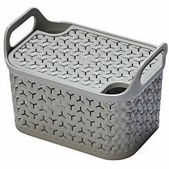 Strata Urban Store Basket with Lid 8 Litre Grey