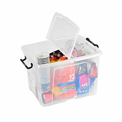 Strata Smart Plastic Storage Box with Folding Lid 40 Litre