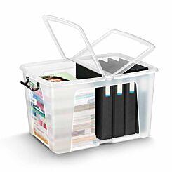 Strata Smart Plastic Storage Box with Folding Lid 65 Litre