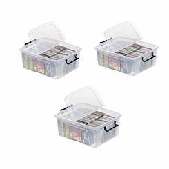 Strata Smart Plastic Storage Box 24 Litre Pack of 3