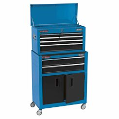 Draper 24 inch Roller Cabinet and Tool Chest with 6 Drawers Blue