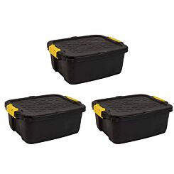 Strata Heavy Duty Storage Box 24 Litre Pack of 3