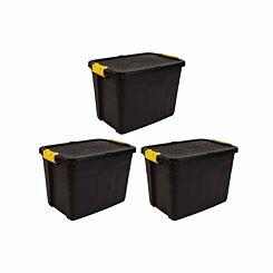Strata Heavy Duty Storage Box 60 Litre Pack of 3