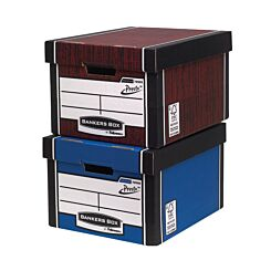 Bankers Box by Fellowes Premium 725 Classic Storage Boxes with PRESTO Woodgrain