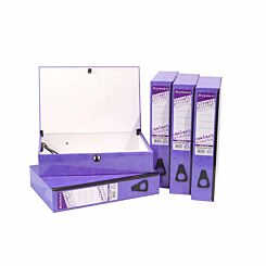 Ryman Select Box File Foolscap Pack of 5 Purple