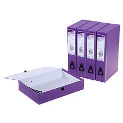 Ryman Colour Box File Foolscap Pack of 5 Purple