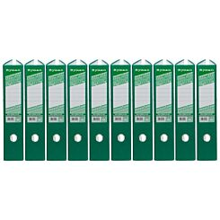 Ryman Colour Lever Arch Files Foolscap Pack of 10 Green
