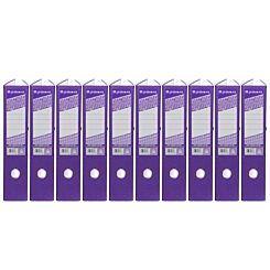 Ryman Colour Lever Arch Files Foolscap Pack of 10 Purple
