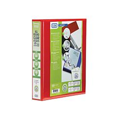 Elba Panorama Presentation Binder 40mm 4D Ring A4 Pack of 6 Red