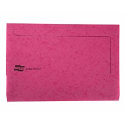 Europa Pocket Wallets Foolscap Pack of 25 Pink