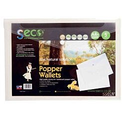 Seco Biodegradable Popper Wallet A4 Plus Pack of 5