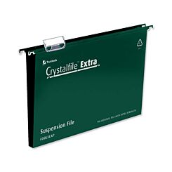 Crystalfile Extra Foolscap Suspension Files 50mm Capacity Pack of 25