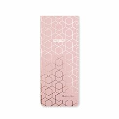 Matilda Myres Slim Magnetic Shopping List Light Pink