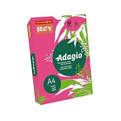 Rey Adagio Ream of Paper Bright Coloured A4 500 Sheets Fushia