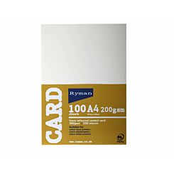 Ryman Card A4 200gsm 100 Sheets Ivory Pack of 3