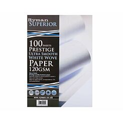 Ryman Card A4 120gsm 100 Sheets White Pack of 3