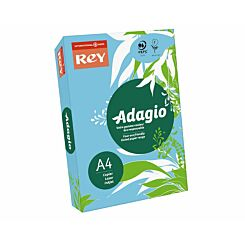 Adagio Ream of Bright Coloured Copier Paper A4 80gsm 500 Sheets Bright Blue