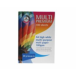 Ryman Multi Premium Copy Paper A4 100gsm 100 Sheets
