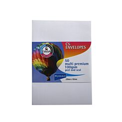 Ryman Multi Premium Envelopes C5 100gsm Pack of 50
