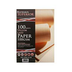 Ryman Laid Paper A4 100gsm 100 Sheets Vellum
